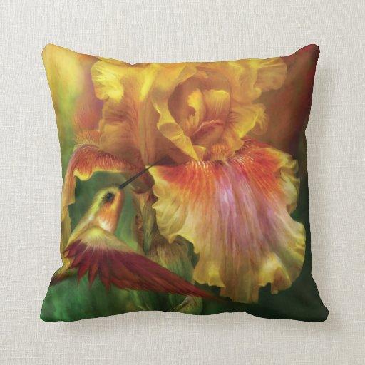 Iris-Diosa de la almohada del diseñador del fuego
