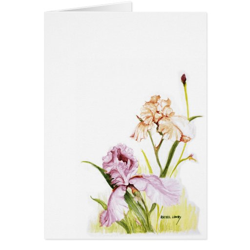 Iris Duo Greeting Card