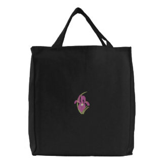 Iris Embroidered Tote Bag