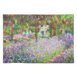 Iris en el jardín Claude Monet de Monet Manteles Individuales