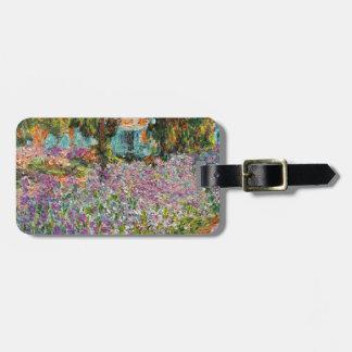 Iris en el jardín de Monet Etiquetas Bolsa