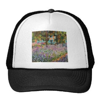 Iris en el jardín de Monet Gorras De Camionero