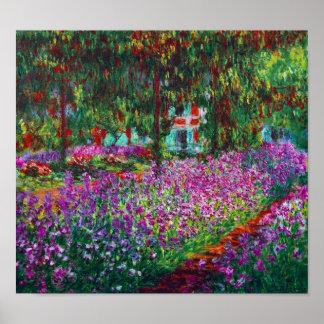 Iris en el jardín de Monet Posters