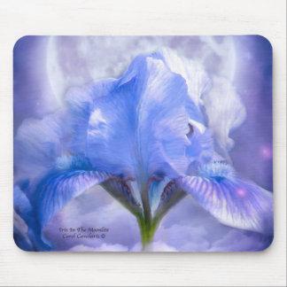 Iris en el Moonlite Mousepad Alfombrillas De Ratones