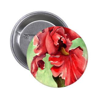 Iris en la acuarela - bella arte de Withanf Pin Redondo 5 Cm