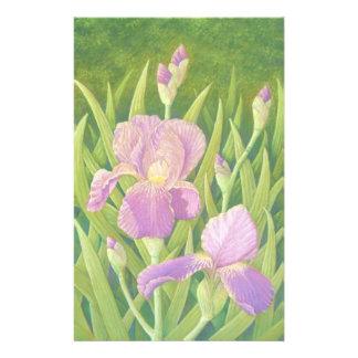 Iris en los jardines de Wisley, efectos de Papeleria