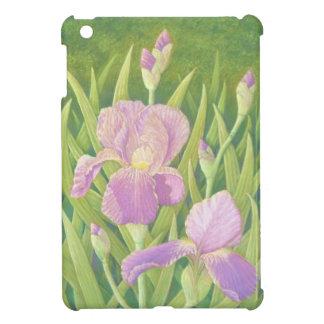 Iris en los jardines de Wisley, Surrey en pastel