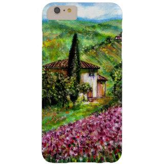 IRIS EN TOSCANA, paisaje púrpura de los campos de Funda Barely There iPhone 6 Plus