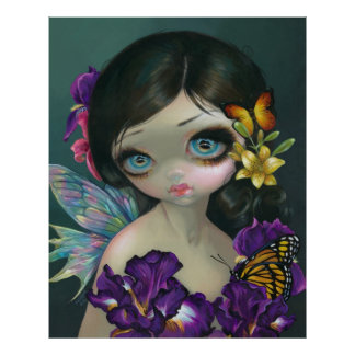 Iris Enchantment ART PRINT flower fairy spring