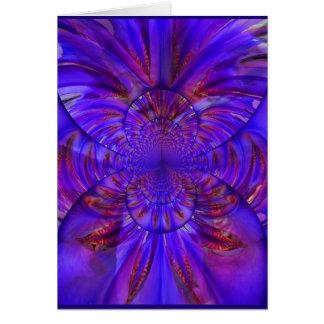 Iris: Espacio en blanco de Kaleidoscoped w/Poem Tarjetón