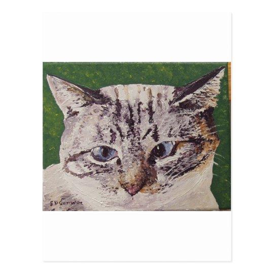 Iris Face Painting Postcard