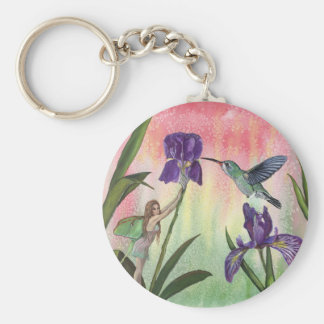 Iris Fairy Basic Round Button Keychain