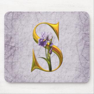 Iris Fantasy Monogrammed Mouse Pad