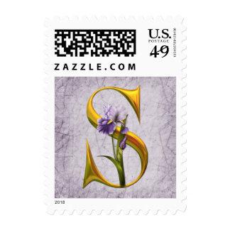 Iris Fantasy Wedding Postage Stamps