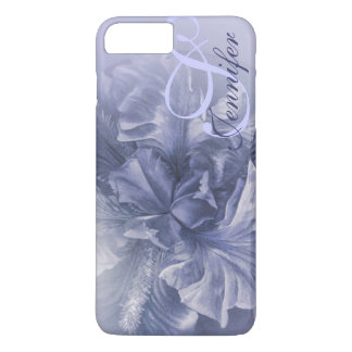 Iris floral blue art 25th case