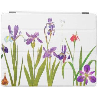 Iris Floral Botanical Flowers Ipad Cover