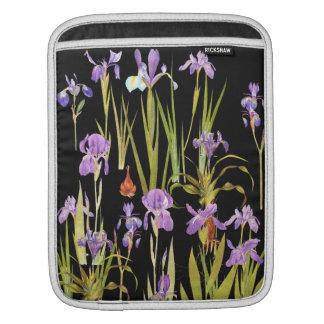 Iris Floral Botanical Flowers iPad Sleeve