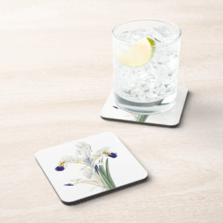 Iris Floral Flowers Garden Redoute Coasters