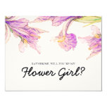 """Iris Floral   """"will you be my flower girl"""" Card"""