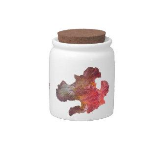 iris flower (digital image) candy jar