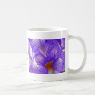 Iris Flower Garden Coffee Cup Mug gifts Purple