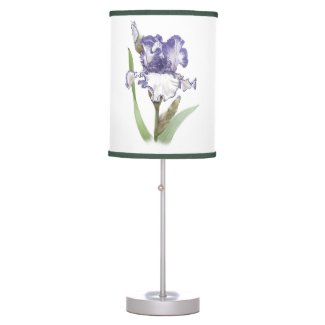 Iris Flower Garden Desk Lamp