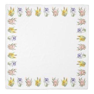 Iris Flower Garden Duvet Cover