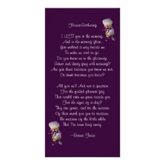 Iris Flower-Gathering Poetry Card