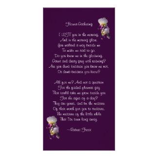 Iris Flower-Gathering Poetry Card Photo Card