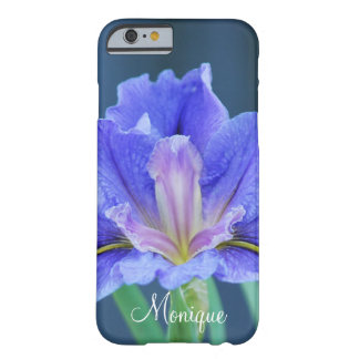 Iris flower personalize name barely there iPhone 6 case