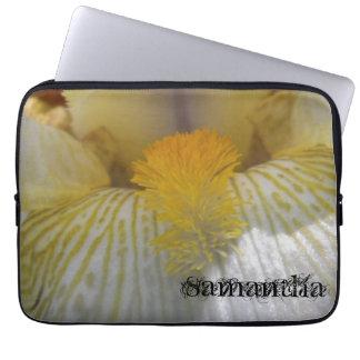 Iris Flower Photograph Personalized Laptop Sleeve
