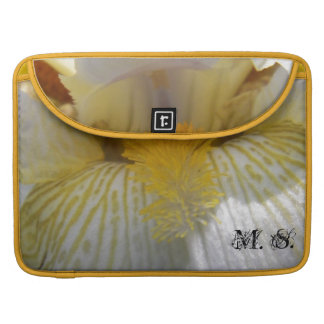 Iris Flower Photograph Personalized Sleeve For MacBook Pro