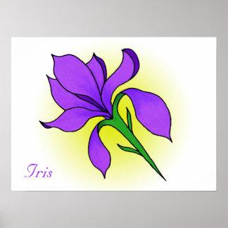 Iris Flower -print