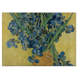 Iris flower van Gogh Cutting Board