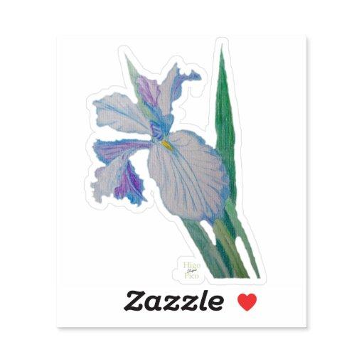 Iris flower vinyl sticker