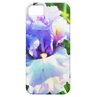 Iris Flower Watercolor in Blue and Lavender iPhone SE/5/5s Case