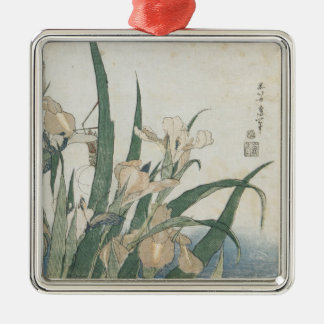 Iris Flowers and Grasshopper, c.1830-31 Metal Ornament