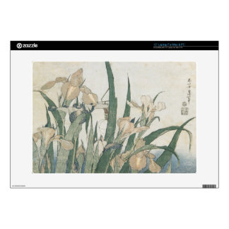 """Iris Flowers and Grasshopper, c.1830-31 Decals For 15"""" Laptops"""
