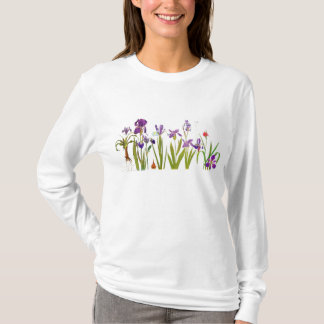 Iris Flowers Floral Garden Botanical Top