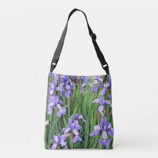 Iris Flowers Floral Garden Tote