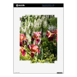 Iris flowers in garden decals for the iPad 2