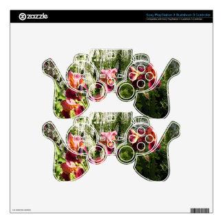Iris flowers in garden PS3 controller decal
