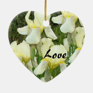 Iris Flowers Love Ornament