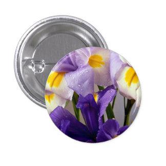 Iris flowers pinback button
