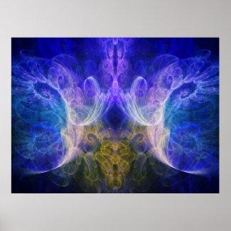 Iris Fractal Print print