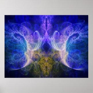Iris Fractal Print