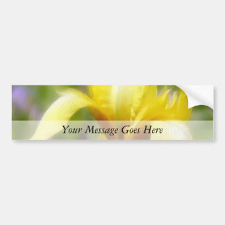 Iris fragante amarillo pegatina para auto