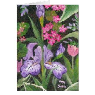 Iris Garden Birthday Card