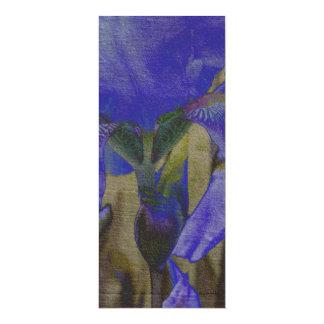 Iris Garden Bookmarks 4x9.25 Paper Invitation Card