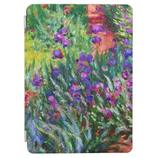 Iris Garden Flowers Claude Monet Fine Art Ipad Air Cover at Zazzle